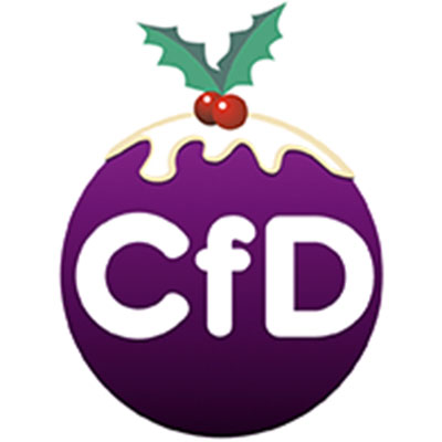 Image of the CfD logo adjusted to look like a Christmas pudding